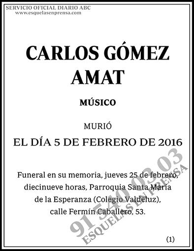 Carlos Gómez-Amat